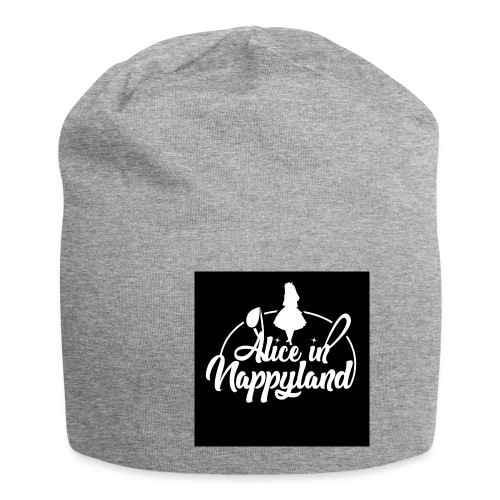 Alice in Nappyland TypographyWhite 1080 - Jersey Beanie