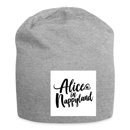 Alice in Nappyland Typography Black 1080 1 - Jersey Beanie