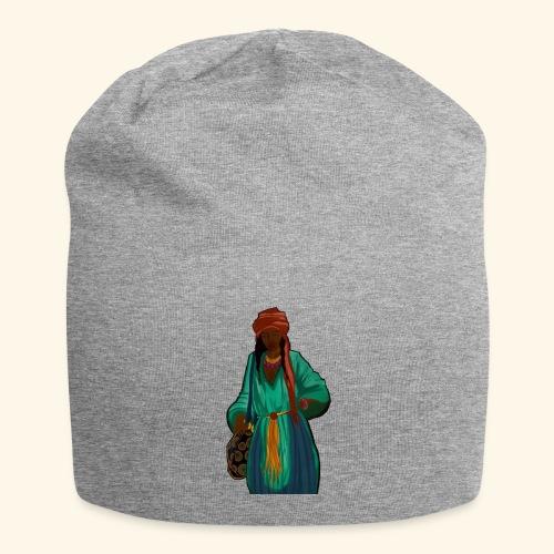 Femme avec sac motif - Bonnet en jersey