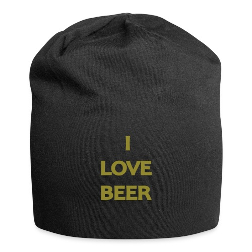 I LOVE BEER - Beanie in jersey