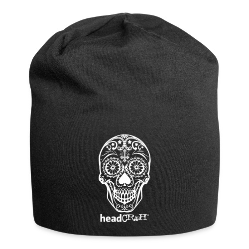 Skull & Logo white - Jersey-Beanie