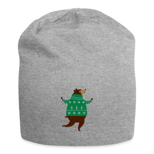 Ours avec un pull-over - Bonnet en jersey