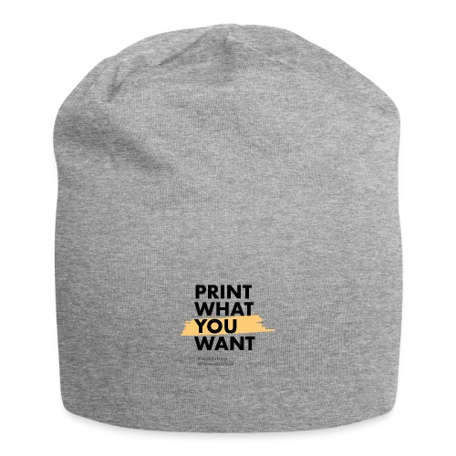 Print what you want - Beanie in jersey