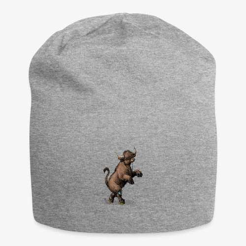 Highland Cow on roller skates - Jersey Beanie