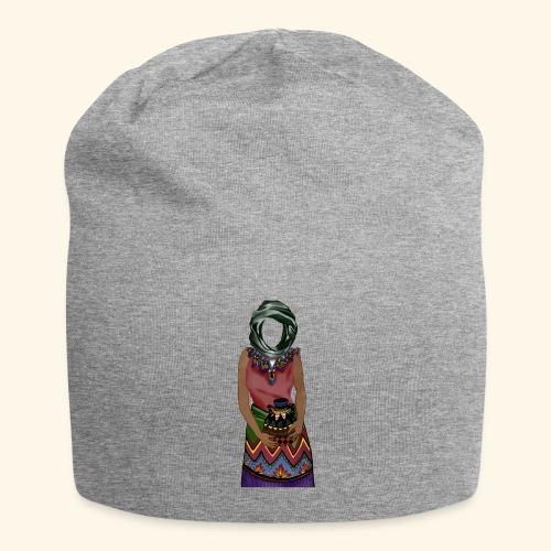 Femme avec jare - Bonnet en jersey