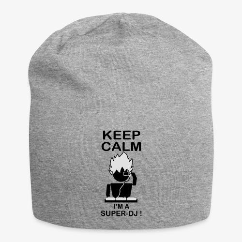 KEEP CALM SUPER DJ B&W - Bonnet en jersey