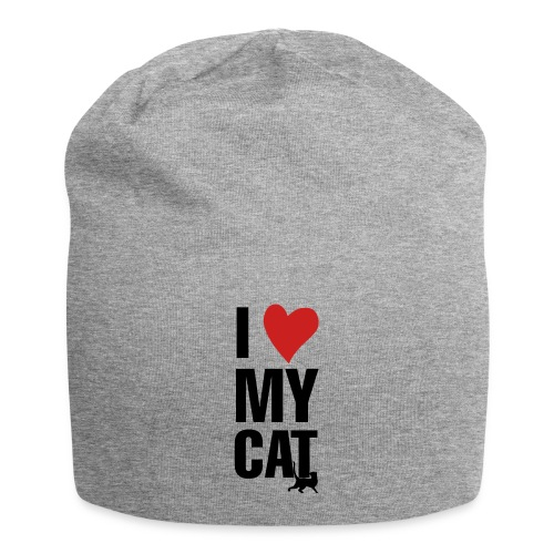 I_LOVE_MY_CAT-png - Gorro holgado de tela de jersey