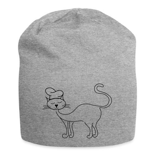 Katze mit Kochmütze - Jersey-Beanie