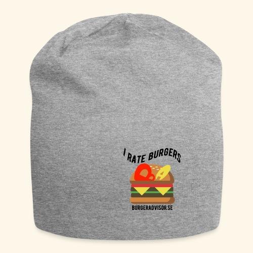 I Rate Burgers logo dark - Jersey Beanie