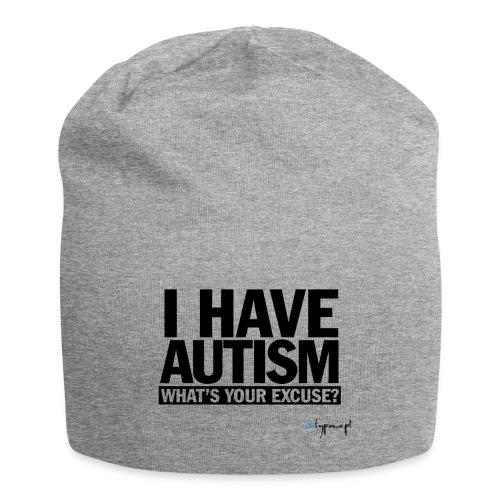 I have autism... (black) - Czapka krasnal z dżerseju