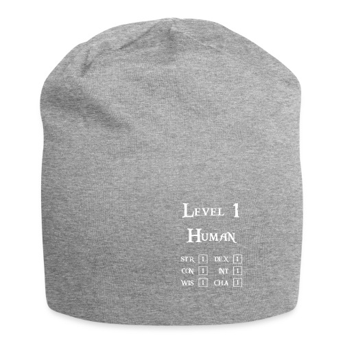Level 1 Human - Wit - Jersey-Beanie