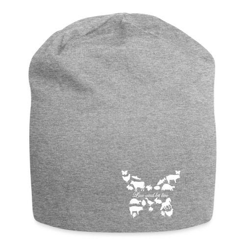 Live and let live - Schmetterling - Jersey-Beanie