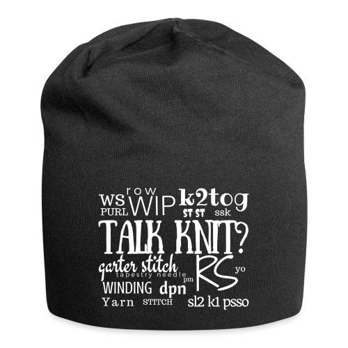 Talk Knit ?, white - Jersey Beanie