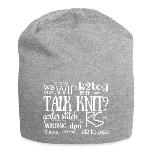 Talk Knit ?, white - Jersey Beanie