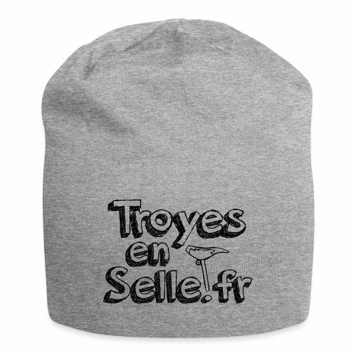 logo Troyes en Selle noir - Bonnet en jersey
