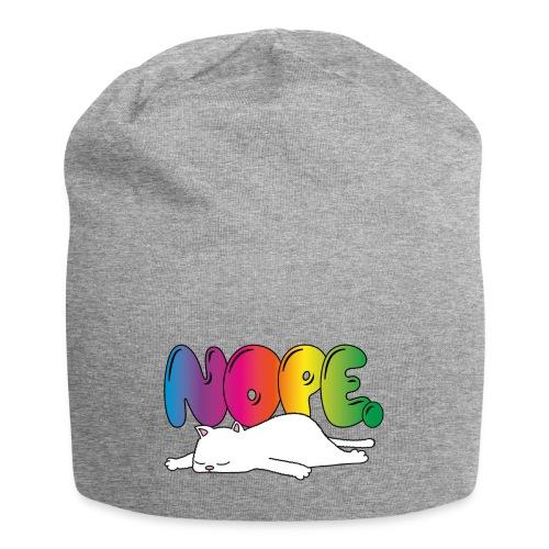 Tasse Nope Katze Lustiger Spruch Regenbogen - Jersey-Beanie
