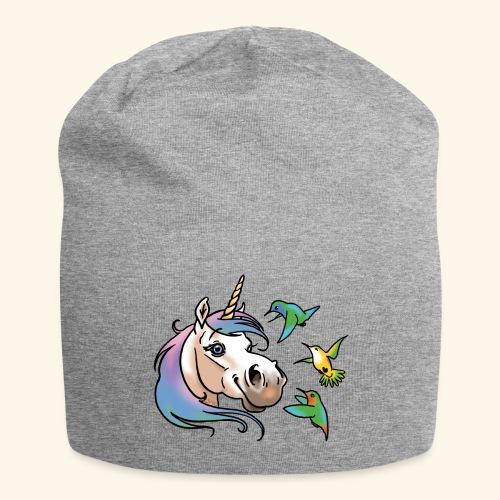 Einhorn und Kolibris - Bonnet en jersey