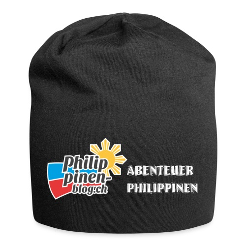 Philippinen-Blog Logo deutsch schwarz/weiss - Jersey-Beanie