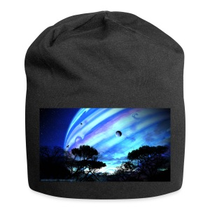 tropical night - Gorro holgado de tela de jersey