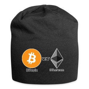 Bitcoin vs ethereum withe ok - Jersey Beanie