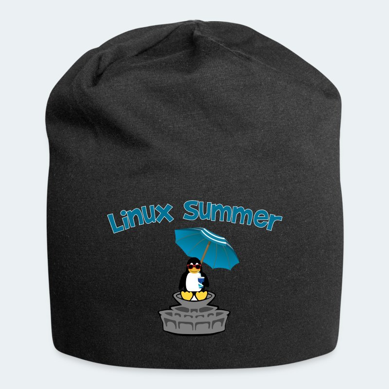 linux summer - Beanie in jersey