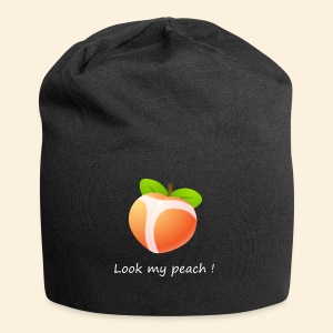 Look my peach in white - Jersey Beanie