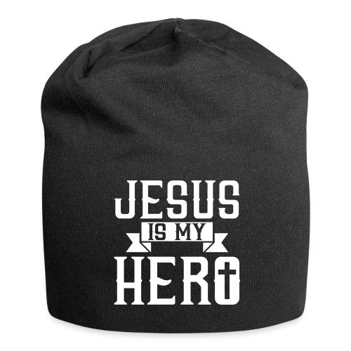 Jesus is my HERO - Christlich - Jersey-Beanie