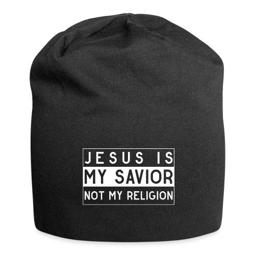 Jesus is my Savior not my Religion - Christlich - Jersey-Beanie