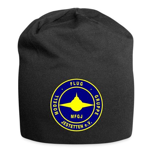 Logo Blau/Gelb - Jersey-Beanie