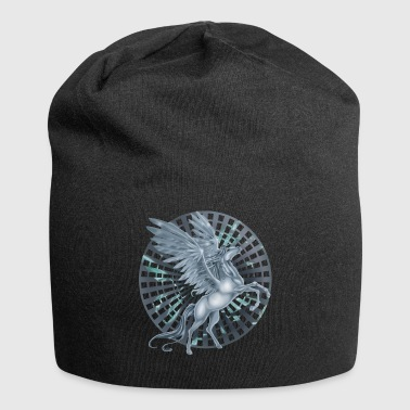 Pegasus with Wheel background - Jersey Beanie