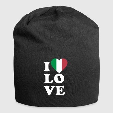 Me encanta Italia - Gorro holgado de tela de jersey