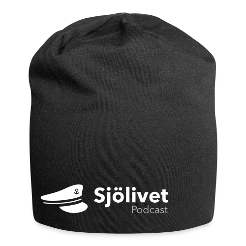 Sjölivet podcast - Vit logotyp - Jerseymössa