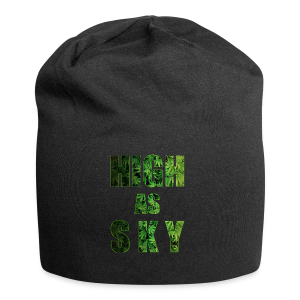 High as Sky Weed Design - Jersey-Beanie