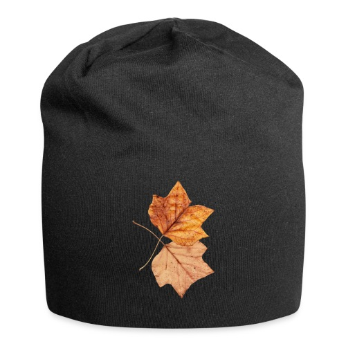 Blätter - Jersey-Beanie