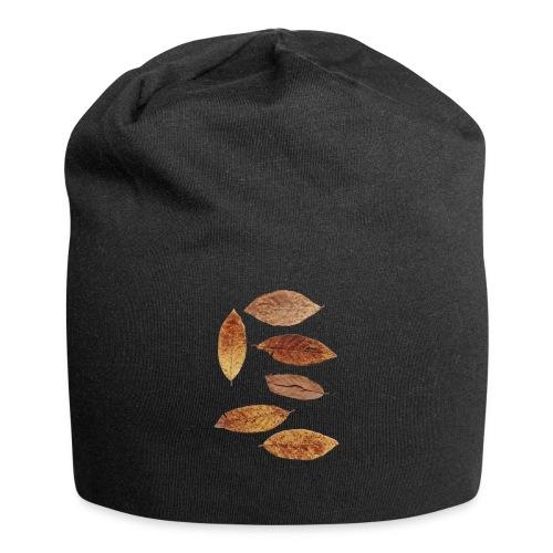 Bunte Blätter - Jersey-Beanie