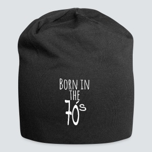 Born in the 70 s weiss - Jersey-Beanie