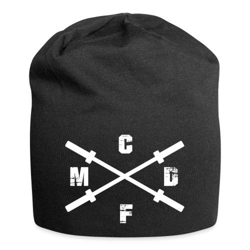 Snapback Cap mit hellem Logo- Druck an der rechten - Jersey-Beanie