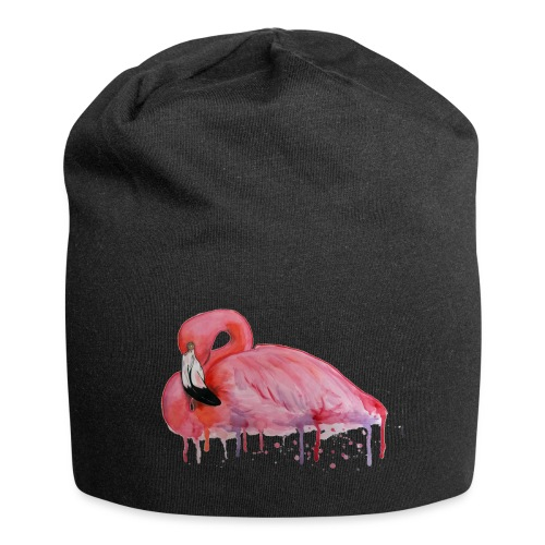 Pink Flamingo Watercolors Nadia Luongo - Beanie in jersey