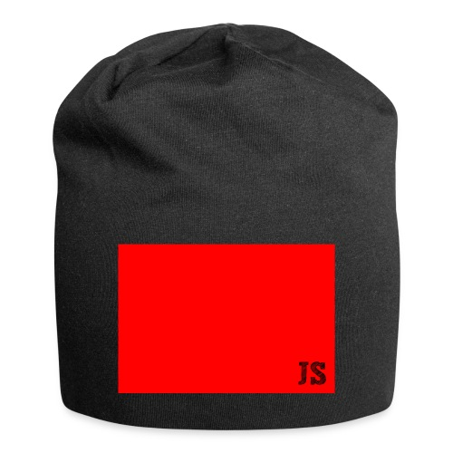 JustSquares Rood - Jersey-Beanie