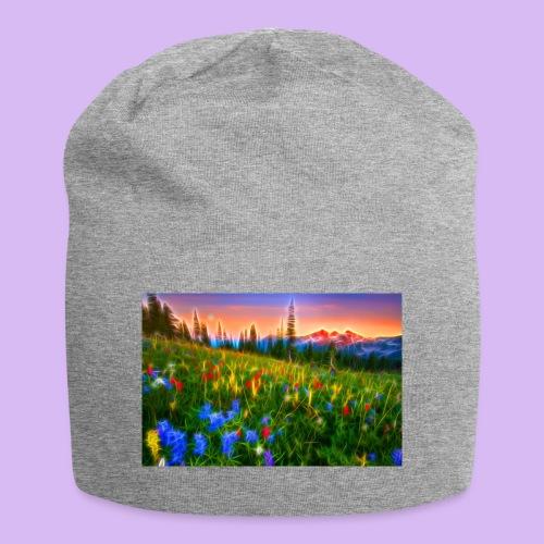 Bagliori in montagna - Beanie in jersey