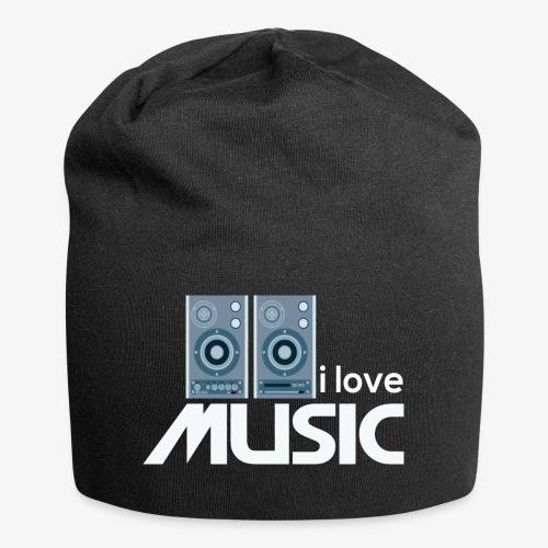 Amo la música 02 - Gorro holgado de tela de jersey