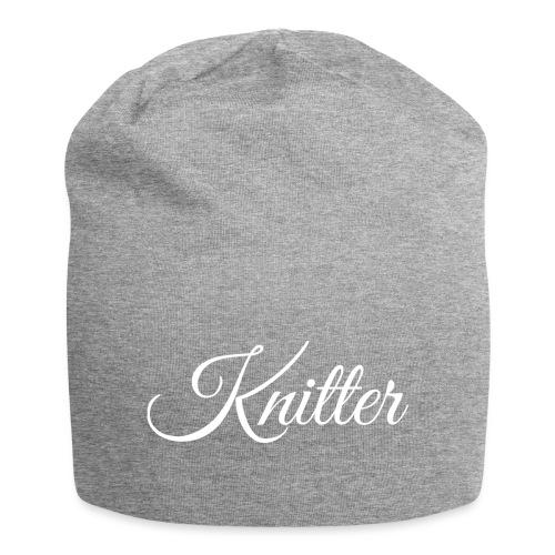Knitter, white - Jersey Beanie