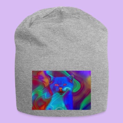 Gattino con effetti neon surreali - Beanie in jersey