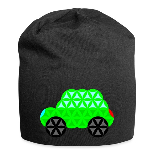 The Car Of Life - M01, Sacred Shapes, Green/R01. - Jersey Beanie