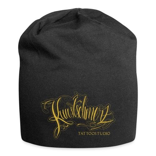 Kunstschmerz Logo Schrift gold - Jersey-Beanie