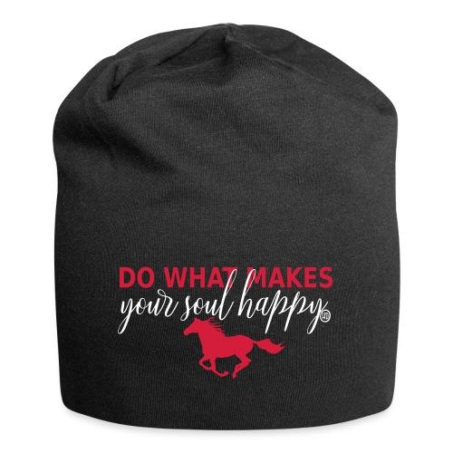 Mach was dich glücklich macht - reite - Jersey-Beanie