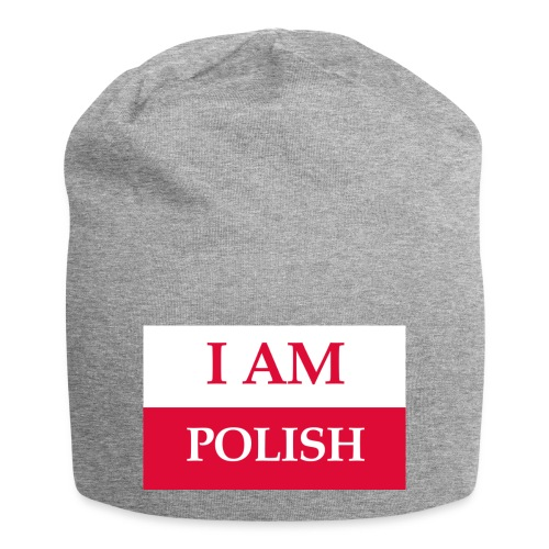 I am polish - Czapka krasnal z dżerseju