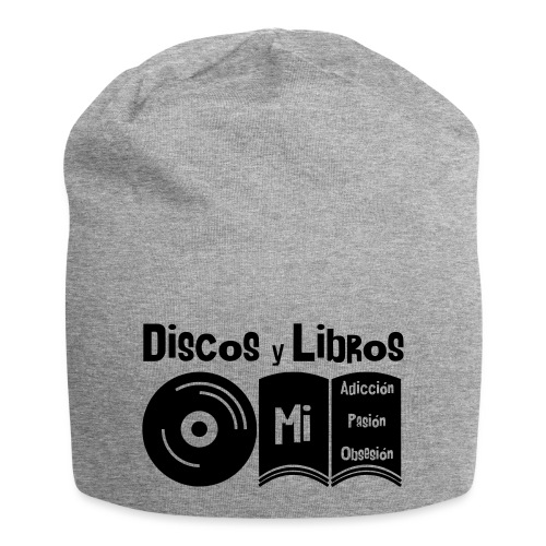 Discos y Libros - Gorro holgado de tela de jersey