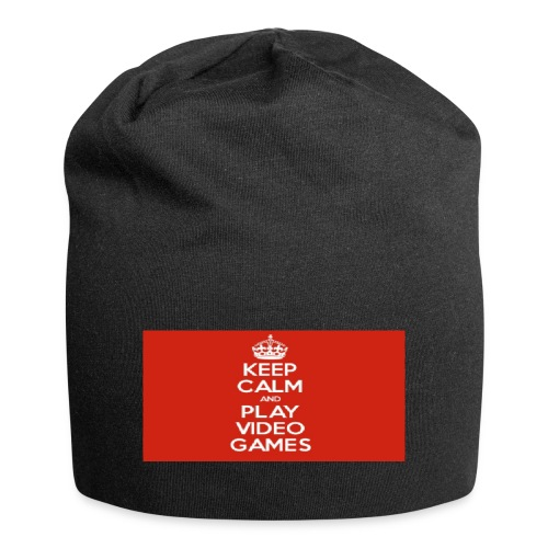 play does games - Jersey-beanie