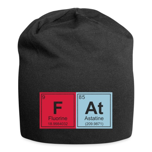 Geeky Fat Periodic Elements - Jersey Beanie